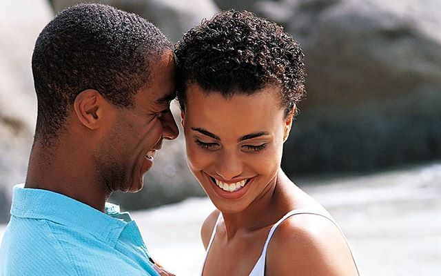 Black couple in long-term relationship